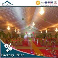 Wholesale 20mX50m Large Wedding Tent Party Marquee With Colorful Roof Lining and Curtain from china suppliers