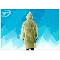 Wholesale Yellow  PE Plastic Raincoat Disposable  With Food Grade For Children And Adult from china suppliers