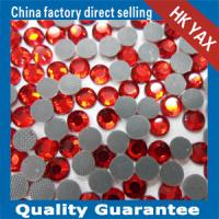 Wholesale lead free hot fix pedreria red color from china suppliers
