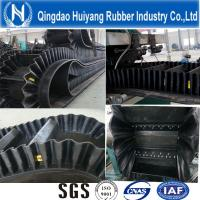 Wholesale Ep100~Ep400 Sidewall Corrugated Rubber Conveyor Belt 500mm height cleat DIN Standard from china suppliers