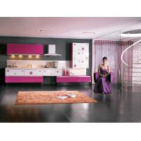 Wholesale Stainless Steel Commercial Modern Kitchen Cabinets Pink White Lacquer Finish Door from china suppliers