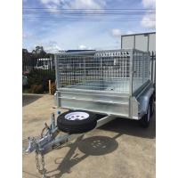 Wholesale 10x5 Galvanised Caged Tandem Trailer with Mechanical Disc Brake 2000KG from china suppliers