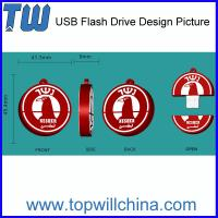 Wholesale Custom Pen Drive Data Storage PVC Material Company Brand Design from china suppliers