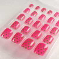 Wholesale ABS material The polka dot Toe False nail / Fake Toe Nails from china suppliers