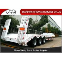 Wholesale 3 Axle 60 Ton Low Bed Semi Trailer Truck , Low Loader Trailers  Dimension Customized from china suppliers