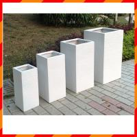 Wholesale Light weight high strength outdoor fiberglass clay planter from china suppliers