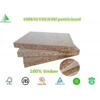 Wholesale 4'X8' manufacturing company wood flooring grade CARB P2 class raw flakeboard from china suppliers