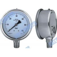 Wholesale 4 Inch tube bottomgauge stainless steel pressure gauge 304 roll ring type from china suppliers