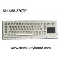 Wholesale Water Proof Industrial Computer Keyboard / Metal SS Panel Mount Keyboard with Touchpad from china suppliers