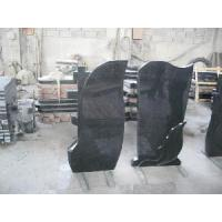 Wholesale Shanxi Black Granite Upright Headstone from china suppliers