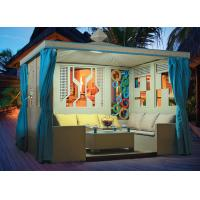 Wholesale China leisure furniture outdoor pavilion with sofa garden rattan tents 1110 from china suppliers