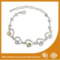 Wholesale Crystal Stone Metal Chain Bracelets Bead Charm Bracelets Jewelry from china suppliers