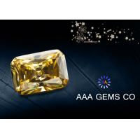 Wholesale High Hardness Yellow Colored Moissanite , Radiant Cut Moissanite from china suppliers