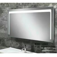 Wholesale Modern illuminated Aluminum Led Bathroom Mirror With Radio , defogger , touch sensor from china suppliers