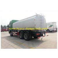 Wholesale Oil Tank Truck 30cbm 6X4 336 hp drive EUROII engine green chassis white tank from china suppliers