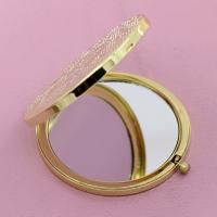 Wholesale Ladies Desktop Pocket Make Up Mirror Laser Engraved , Magnifying Compact Mirror from china suppliers