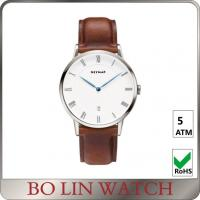Wholesale Simple Classic Men'S Minimalist Dress Watch , Automatic Minimalist Leather Watch from china suppliers