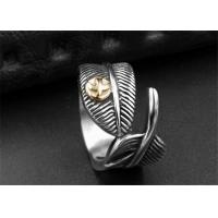 Wholesale Special Double Leaf Ring Unique Finger Jewelry / Stainless Steel Friendship Rings from china suppliers