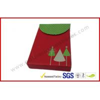 Wholesale Red Christmas Gift Packaging Boxes Foldable / VIP Card Gift Packing from china suppliers