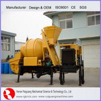 Wholesale trailer mounted concrete pump with mixer portable concrete mixing and pumping from china suppliers