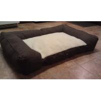 China Soft Fleece Pet Mat Memory Foam Mattress Dog Bed Sofa Bolster Design on sale