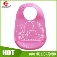 Wholesale Protable Soft Durable FDA Silicone Baby Bibs Printed Apron LFGB from china suppliers