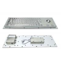 Wholesale 64 Keys Panel Mount Industrial Keyboard With Trackball Cabinet Kiosk Application from china suppliers