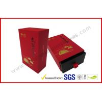 Wholesale Soft Paper Luxury Gift Boxes / Drawer Tea Box with Hot stamp Logo in Gold from china suppliers