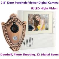 """Wholesale 2.8"""" LCD Screen Digital Door Peephole Viewer Camera IR LED Night Vision Home Security Door Eye Electronic Doorbell Alarm from china suppliers"""
