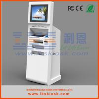 Wholesale Computer PC Kiosk Stand Check In Ticketing Information Kiosk With A4 printer from china suppliers