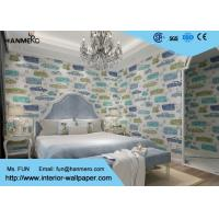 Wholesale Cartoon Pattern Non - Woven Kids Bedroom Wallpaper 0.53*10m Beige from china suppliers
