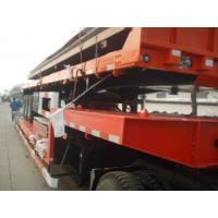 Wholesale Hauler Truck Low Platform Semi Trailer , 3 Axle truck Trailer Low Bed For Road Transportation from china suppliers
