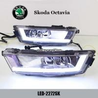Wholesale Skoda Octavia DRL LED Daytime Running Light turn light steering for car from china suppliers