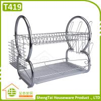 Wholesale Houseware Supplier Double Layers Stainless Steel Kitchen Dish Drying Rack from china suppliers