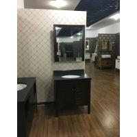 Wholesale Classical Solid Wooden Bathroom Sink Cabinets  Marble Table Style 32 Inch from china suppliers