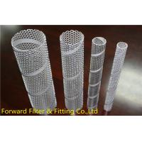Quality Punching pipe spiral welding round hole network tube oil sand control tube, 0.2mm - 15mm Wall Thickness for sale