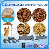 Wholesale Automatic dog food twin screw extruder food process machinery from china suppliers