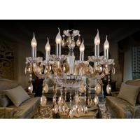 Wholesale Home Decoration Cognac Rustic Classic Chandeliers , Big Glass Pendant Chandelier from china suppliers