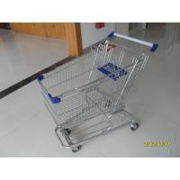 Wholesale 100L 4 Swivel Flat Castors Supermarket Shopping Cart With Colorful Plastics from china suppliers