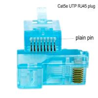 Wholesale Networking Cable OEM 8P8C CAT5E Ethernet Cable Plugs with transparent from china suppliers