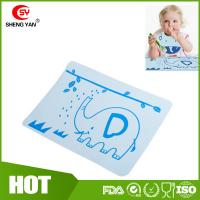 Wholesale BPA Free Flexible Durable Silicone Kids Placemat With Elephant Printed from china suppliers