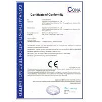 WENZHOU OUNUO MACHINERY CO.,LTD Certifications