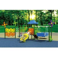 Wholesale china top high quality outdoor plastic swing and slide for children from china suppliers