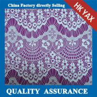China 2014 china factory wholesale  Good sale white floral cotton nylon lace fabric YAXL-1501 on sale