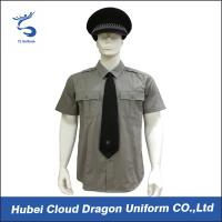 Wholesale Men / Women Long Sleeve Security Guard Shirts With 100% Cotton Materials , Dark Grey Color from china suppliers