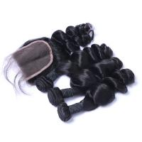 Wholesale Virgin Human Malaysian Hair Extensions Loose Wave Wet And Wavy 100G from china suppliers