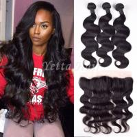 Wholesale Malaysian Remy Hair Weave Malaysian Hair Extensions With 13 x 4 Lace Frontal Ear To Ear from china suppliers