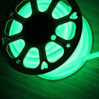 Wholesale 12V IP67 round led neon flex 16mm mini 360 degree green rope light soft tube from china suppliers