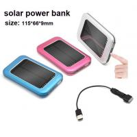 Wholesale Solar mobile phone  power bank , size 115*66*9mm from china suppliers