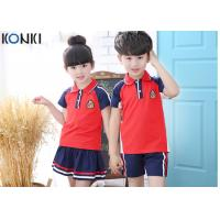 Wholesale Custom School Uniforms Shirt For Boys And Girls , Summer School Uniform Clothes from china suppliers